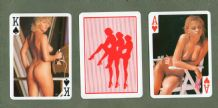 Collectable Vintage Pin-up playing cards. Royal Flushes